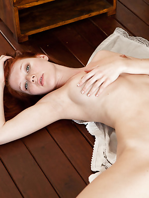 metartmoney  Mia Sollis  Erotic, Cute, Blue eyes, Red Heads, Model, Fingering, Softcore