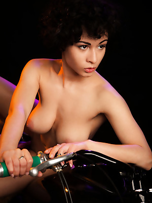 metartmoney  Pammie Lee  Big tits, Boobs, Breasts, Tits, Erotic, Softcore, Ebony, Lingerie, Bike, Striptease